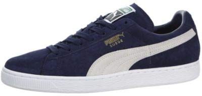 PUMA Men's Suede Classic + Sneaker, Peacoat/White, 8 M US from PUMA