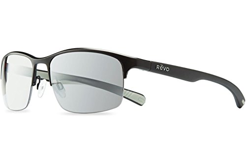 Revo Fuselight RE 1016 01 GY Polarized Rectangular Sunglasses, Black, 58 - Revo Color