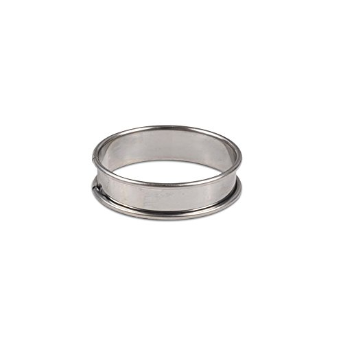 JB Prince Flan Ring - 3 inch - Stainless Steel 6 Pack ()