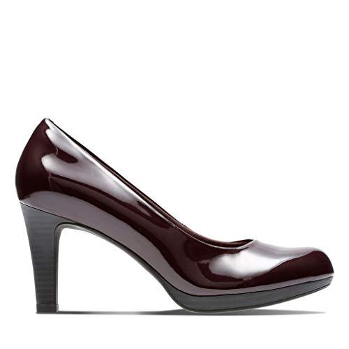 Viola Clarks Tacón purple Zapatos Adriel Aubergine Para De Mujer ZIqzq5r