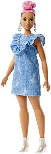 Barbie Muñeca Fashionistas con Vestido, color Azul