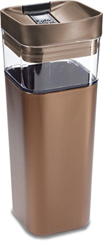 Travel Mug Box - Kafe in the Box, Splashproof and Ecofriendly Reusable Coffee Mug/Travel Mug by Precidio Design - 16 oz, Bronze