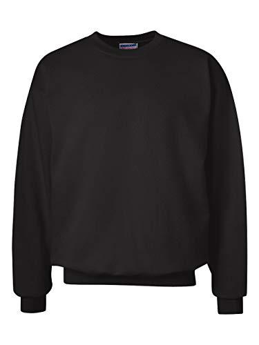 Hanes Men's Ultimate Heavyweight Fleece Sweatshirt, Black, Large