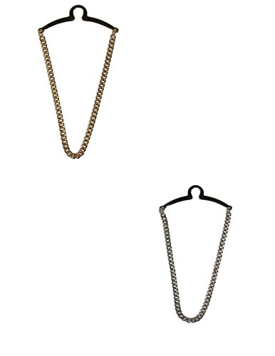 - Competition Inc. Men's Single Loop Tie Chain, Gold/Silver