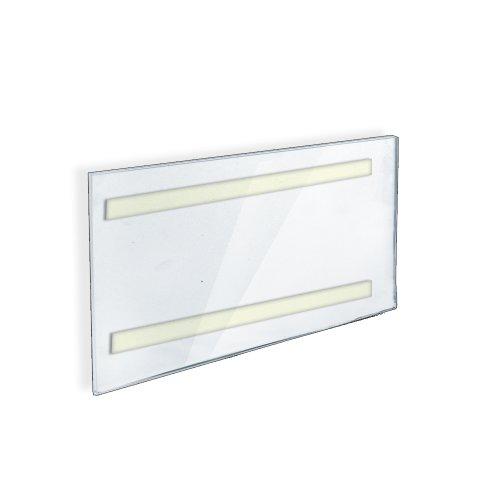 Azar 122030 8-1/2-Inch W by 5-1/2-Inch H Wall U-Frame with Adhesive Tape, 10-Piece - 10 Frames Piece