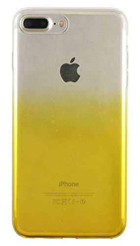 Nsiucion iPhone 8 Plus Case iPhone 7 Plus Case, Anti-Scratch Ultra Slim Clear Flexible TPU Gel Protective Cover Skin Case for iPhone 8 Plus iPhone 7 Plus (Yellow)