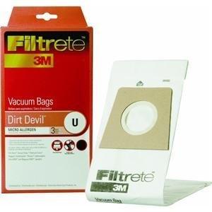3M 65703A-6 Dirt Devil Size U Filtrete™ Vacuum Bags 3 Count