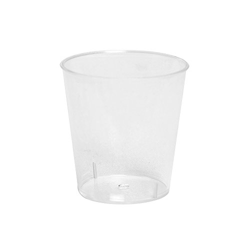 2 oz Plastic Shot Glasses Clear 1200-Units per Box Ideal for Parties by Arant