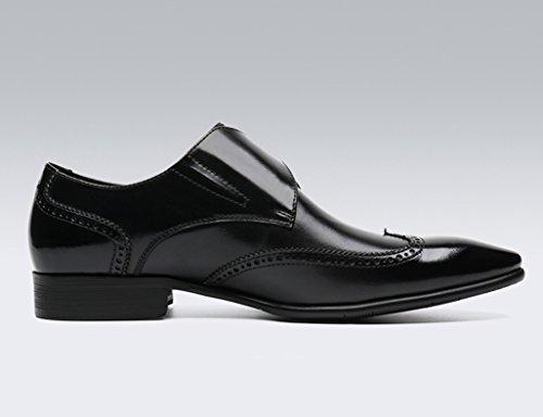 Zapatos Clásicos de Piel para Hombre Zapatos de cuero para hombres Ropa formal para negocios Estilo británico con punta ( Color : Marrón , Tamaño : EU43/UK8 ) Negro