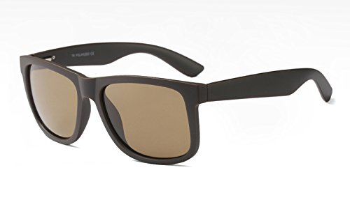 Gafas TL Hombres Sunglasses Guía Azul de brown UV400 Sol Mate con Negro TR90 polarizadas FFSErxYw