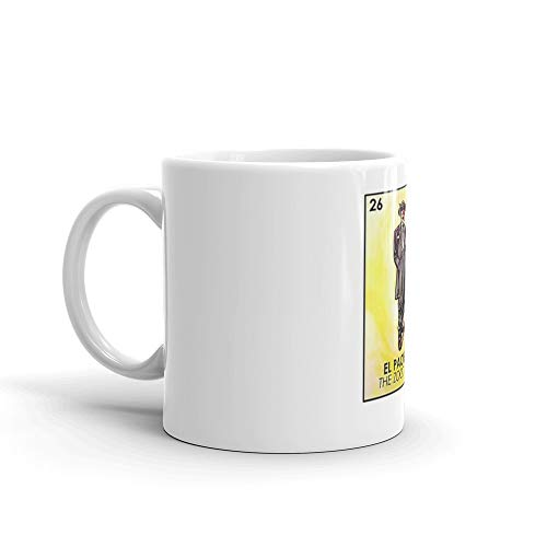 El Pachuco -The Zoot Suiter - Loteria 11 Oz White Ceramic.11 Oz Ceramic Glossy Mugs With Easy Grip Handle, Give A Classic For Look And Feel.