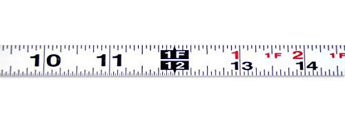 - Metal Adhesive Backed Ruler - 1/2 Inch Wide X 4 Feet Long - Left to Right - Fractional - 1/16