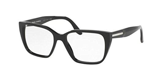 1ab1o1 Glasses - Prada PR08TV Eyeglass Frames 1AB1O1-53 - Black PR08TV-1AB1O1-53