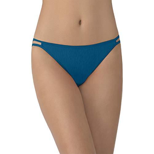 - Vanity Fair Women's Illumination String Bikini Panty 18108, Celestial Blue, Large/7