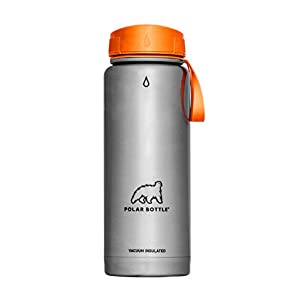 Polar Bottle Thermaluxe Vacuum Insulated Stainless Steel Thermos Travel Mug, Tangerine, 22 oz. .