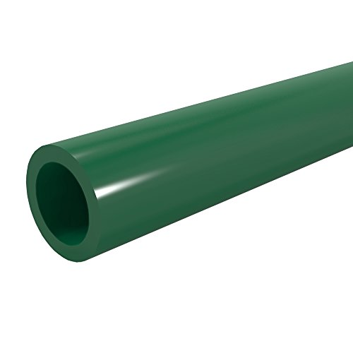 FORMUFIT P012FGP-GR-5 Schedule 40 PVC Pipe, Furniture Grade, 5', 1/2'' Size, Green by FORMUFIT