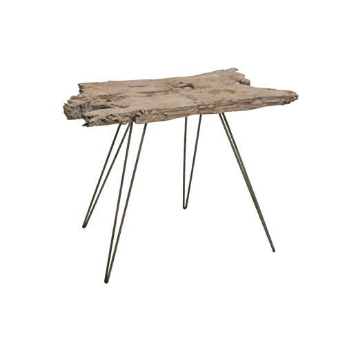 Mesa auxiliar de tronco irregular, color gris: Amazon.es: Hogar
