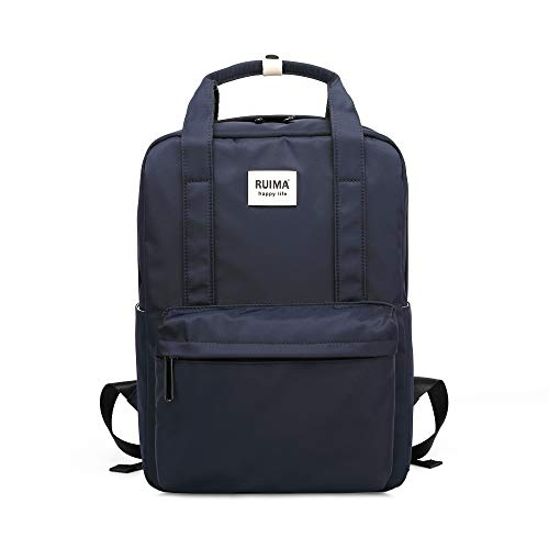 RUIMA School Backpack Casual Lightweight College Bag fits 14 Inch Laptop with Luggage Strap for Women