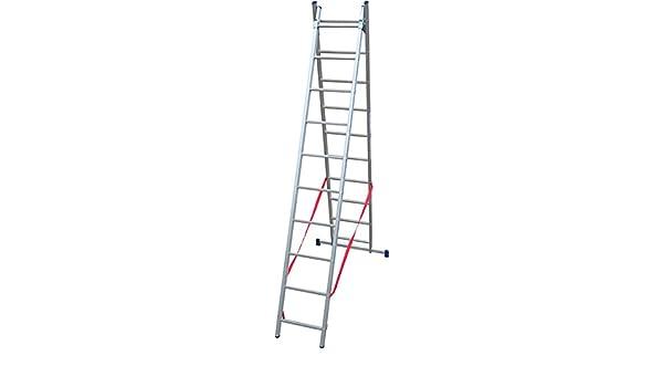Escalera Aluminio 2 X 11 Peldaños a cartilla Altura MT. 5,10 – SL310 – 2: Amazon.es: Bricolaje y herramientas