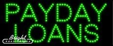 Made in USA 27 x 11 x 1 inches Payday Loans LED Sign