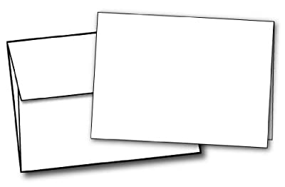 "5"" X 7"" Heavyweight Blank White Greeting Card Sets - 40 Cards & Envelopes"