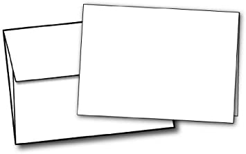 Pack of 1000 4 5//8 x 6 1//4 A6 Flat Card