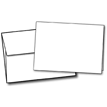 """5"""" X 7"""" Heavyweight Blank White Greeting Card Sets - 40 Cards & Envelopes"""