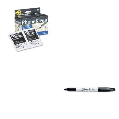 KITREARR1203SAN30001 - Value Kit - Read Right PhoneKleen Wet Wipes (REARR1203) and Sharpie Permanent Marker (SAN30001) (Phonekleen Wipes Wet)