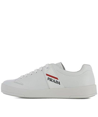 4E31976DTF0009 Pelle Bianco Prada Uomo Sneakers BqxnZ747