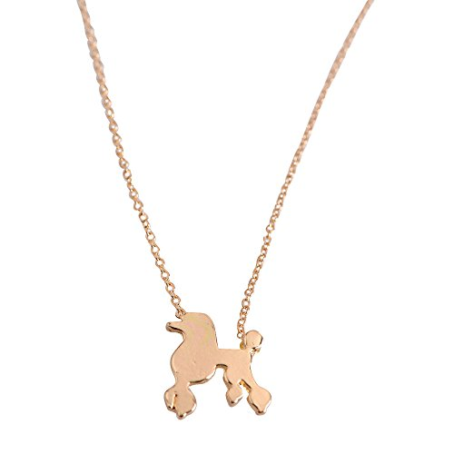 Cute Poodle Dog Pendant Necklace - Fashion Jewelry - Dog Lover Gift - (Poodle Skirt For Dogs)