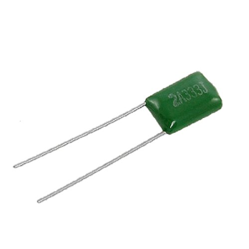 Radial Film Capacitors - Uxcell a11091900ux0067 20 x Polyester Film Capacitors Radial 2A333J 100V 0.033uF 33nF 33000pF