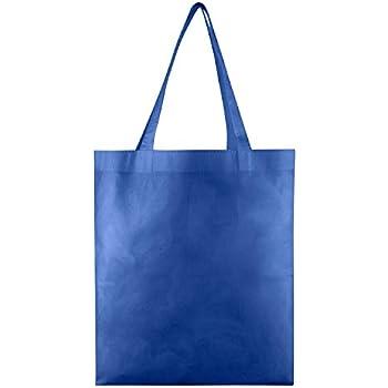 c3e0a0c56528 Amazon.com  Reusable Grocery Tote Bag Large 10 Pack - Royal Blue ...