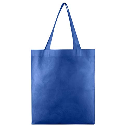 Large Non Woven Tote - 25 PACK - Wholesale Non-Woven Tote Bags, Convention Bags, Promotional Bags, NTB10 (ROYAL BLUE)