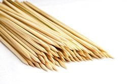 Bamboo Skewers / Kabab / Burger / Barbecue Sticks 10 inch (Pack of 300)