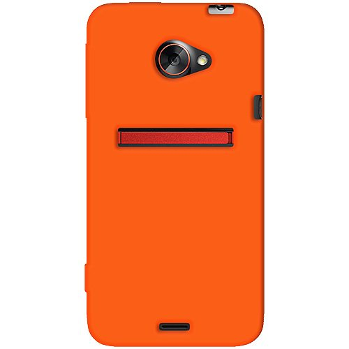 one Jelly Skin Fit Phone Case Cover for HTC EVO 4G LTE and Sprint HTC EVO 4G LTE - 1 Pack - Retail Packaging - Orange ()