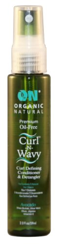 On Organic Natural Curl-N-Wavy Curl Defining Conditioner & Detangler, Avocado 2 oz (Hair Jelly Petroleum)