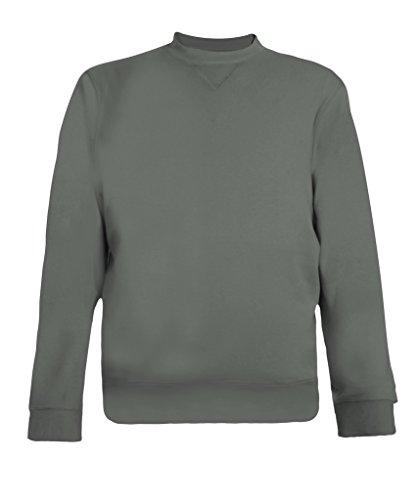 Men's Pima Cotton Sweatshirt with soft feel-Charcoal Size - Pima Sweatshirt