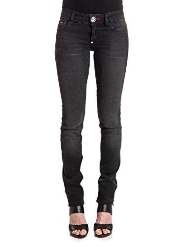 Femme WDT0356PDE004N02TE Plein Jeans Noir Philipp Coton zfaF8qx
