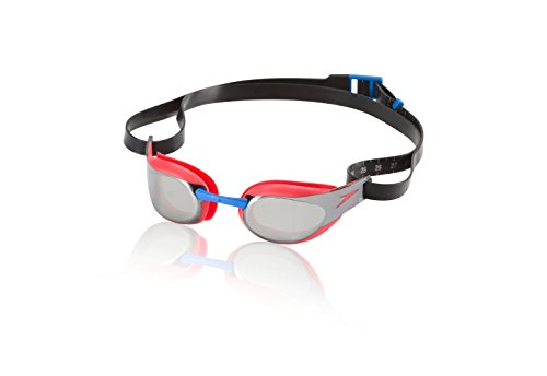 Speedo Fs3 Elite Mirrored Swim Goggles, Lava Red, One Size