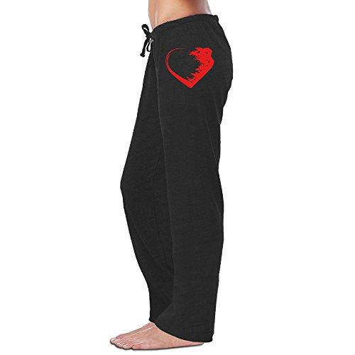Love Warrior Heart CGH Seven Women's Sweatpants Pants SizeM Black