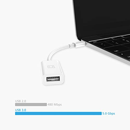 nonda USB C to USB Adapter,USB-C to USB 3.0 Adapter,USB Type-C to USB,Thunderbolt 3 to USB Female Adapter OTG for MacBook Pro 2019,MacBook Air 2020,iPad Pro 2020,More Type-C Devices(White)