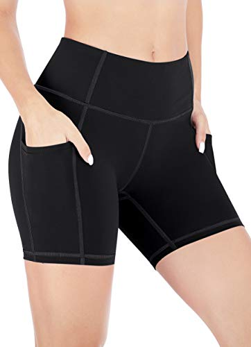 Heathyoga Workout Shorts for Women with Pockets High Waisted Biker Shorts for Women Yoga Shorts Athletic Running Shorts