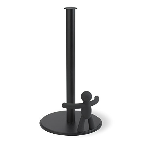 Umbra Buddy Paper Towel Holder, the Original Fun and Functional Soft-Touch Design, Black