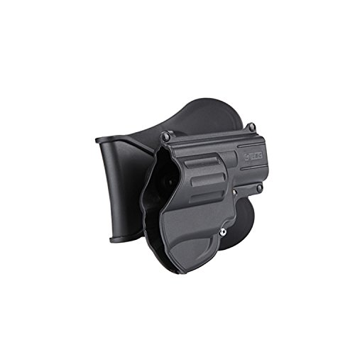Cytac S&W J Frame 2-1/8 Paddle Holder Pistol Holster, Black 360 degree rotatable