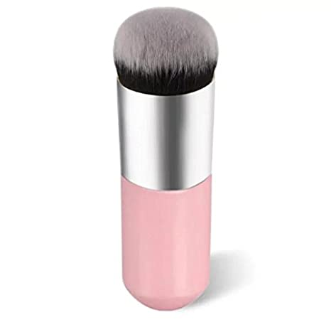 EYX Formula Professional Flat Round Foundation Brush Powder Brush, Portable Essential Makeup Cosmetic Tool Blush Brush Cream BB Brush for Face Beauty