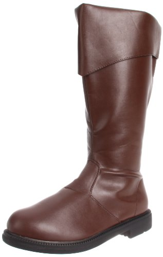 Tall Brown Costume Boots Small (8-9) (Brown Pu Pirate Boot)