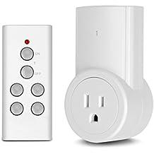 Etekcity® Wireless Control Remoto Interruptores de salida (Incluye Batería), Blanco, 608939749917