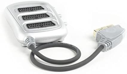 Shielded cable 21 Pin Fully screened Gold connections stress reliefs Ex-Pro Premium Silver 5 Way Scart Splitter 2 Year warranty.