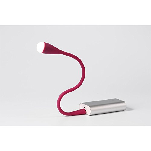 Imesun Portable LED Book Light - Mini Flexible Gooseneck USB LED Reading Light, Touch-Sensor Camping Hiking Reading Writing Lamp for Laptop Computer Night Desk Table Bed Study Travel (Pink) by Imesun (Image #3)