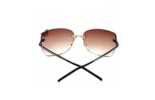 Gafas Gafas 136mm Moda De Sol Sucastle Marco Marrón Embellecimiento Mariposa Sol Pc 4WZcdwS